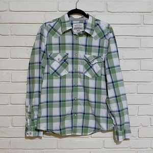 Aeropostale long sleeve green button up